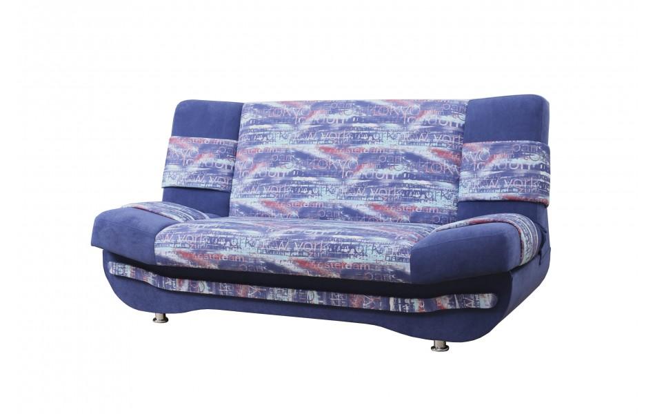"""Диван - кровать """"Баритон"""" на пр. - зм. (микровелюр мегаполис деним / велюр текстура синий)/осн."""