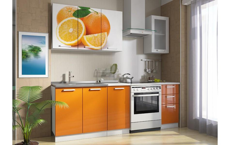 Кухонные гарнитуры «Роза» (МДФ, фотопечать) Вариант 1