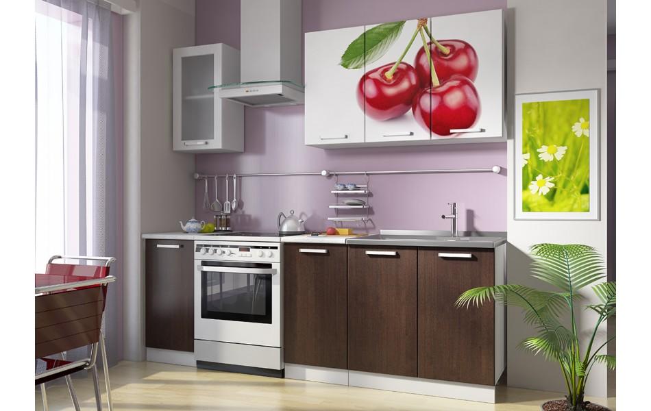 Кухонные гарнитуры «Роза» (МДФ, фотопечать) Вариант 2