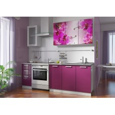 Кухонные гарнитуры «Роза» (МДФ, фотопечать) Вариант 3