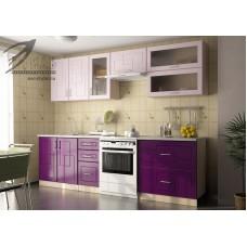 Кухонный гарнитур «Виола» (сиреневый металлик/фиолетовый металлик)