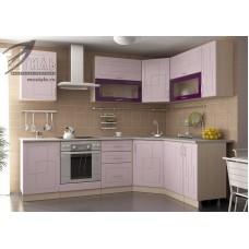 Кухонный гарнитур «Виола» (сиреневый и фиолетовый металлик)