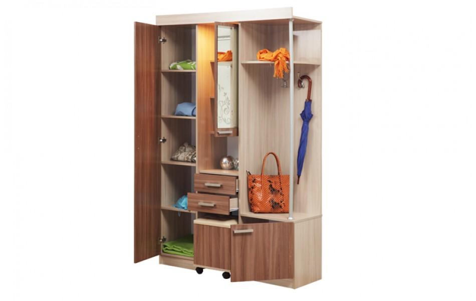 Шкаф комбинированный «Дебют-4» + Пуф выкатной