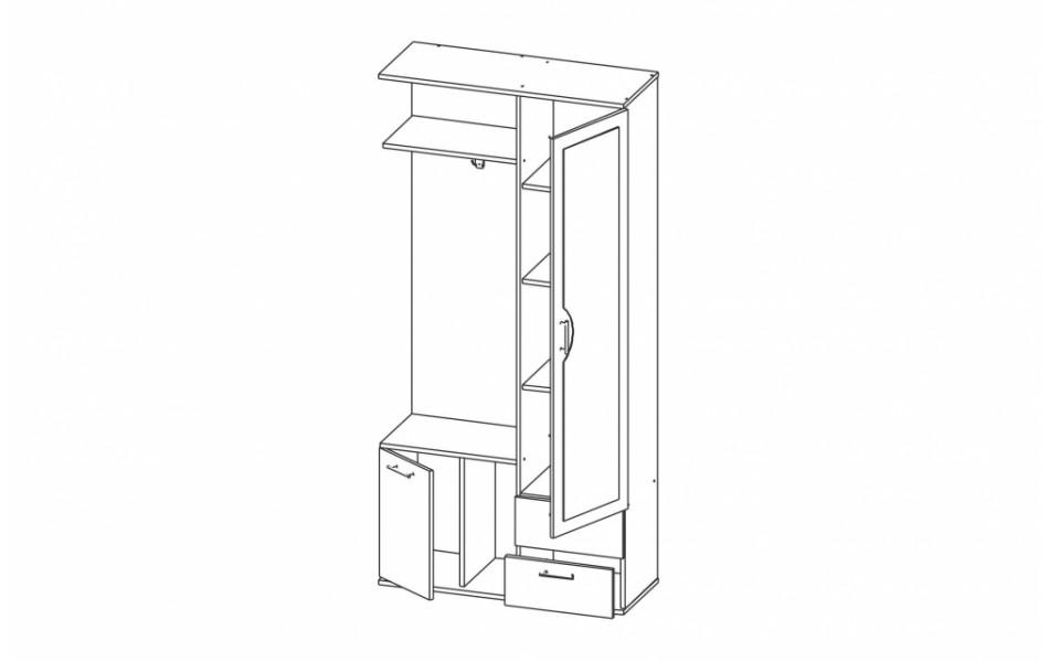 Шкаф комбинированный «Кармен-1»