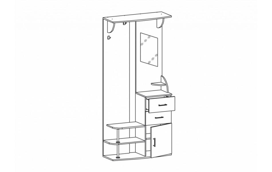 Шкаф комбинированный « Виола-2»
