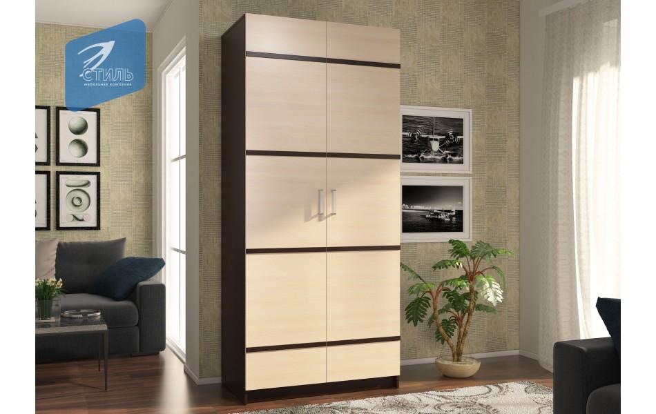 Шкаф «Эва ШК-023» с ПВХ декором