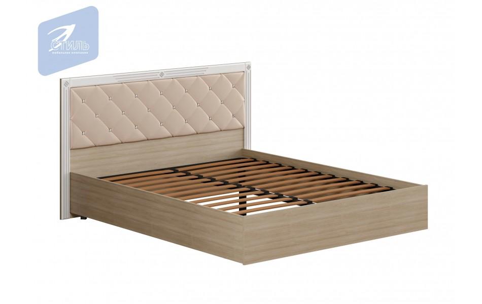 Кровать «Амели» с мягким щитком с ортопедическим основанием