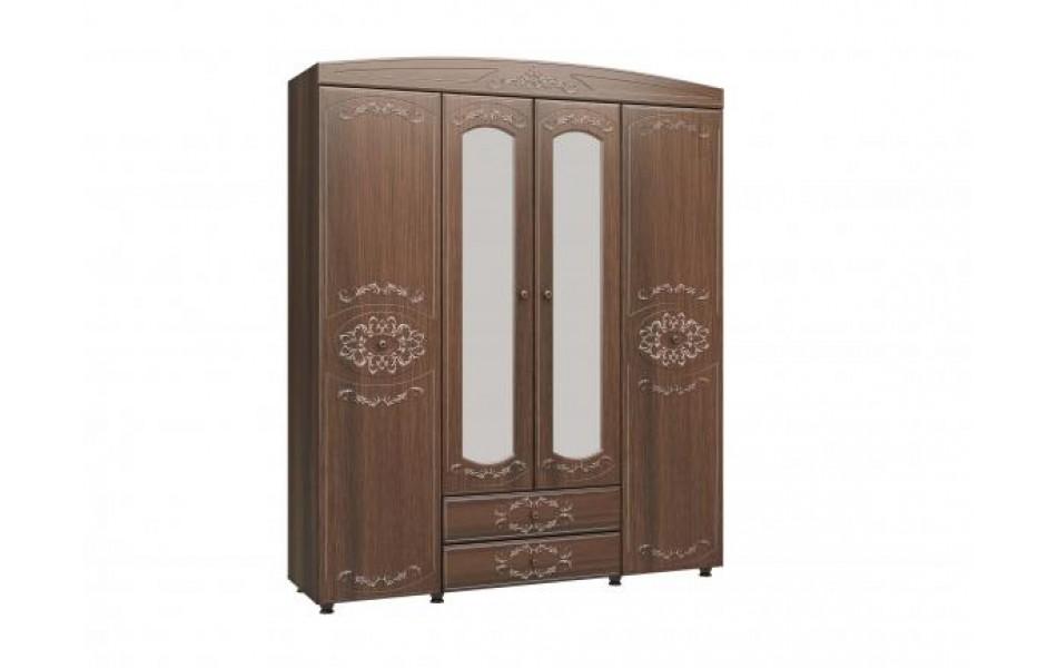 Шкаф четырехдверный с зеркалом «Каролина»