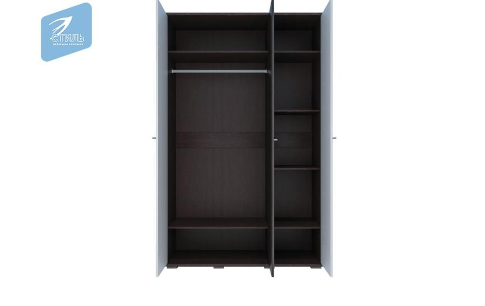 Шкаф трехстворчатый МДФ + 2 зеркала «Луиза»